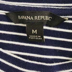 Banana Republic Tops - Banana Republic Navy Striped Ruffle Top